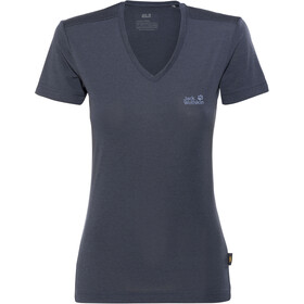 Jack Wolfskin Crosstrail T-Shirt Dames, midnight blue